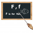 Blackboard for abc alphabet learning. — Stock Photo