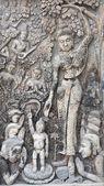 Sand stone carving of Buddha — Stock Photo