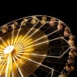 Stock Photo: Ferris wheel at night.
