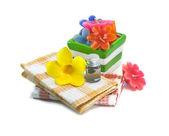 Спа Натюрморт с цветком — Стоковое фото