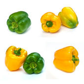 Fresh sweet yellow paprika . — Foto Stock
