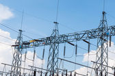 Electric power substation. — Stock Photo