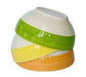 Colorful ceramic bowl. — Stock Photo