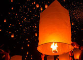 Floating lantern Festiva. — Stock Photo
