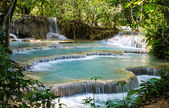 Tad Kwang Sri Waterfall , Luang Prabang Province, Loa. — Stock Photo