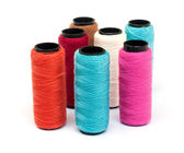 Spool of coloured thread. — Stock Photo