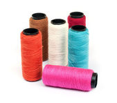 Spool of coloured thread . — Stock Photo