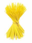 Uncooked italian spaghetti . — Zdjęcie stockowe