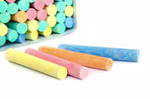 Colorful chalk . — Stock Photo