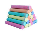 Colorful chalk . — Stockfoto