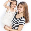 Happy asian little girl with her mother. — Stock Photo #51078667