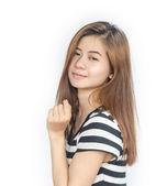 Beautiful  young asian woman. — Stock Photo