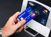 NFC - Near field communication / contactless payment — Stock Photo