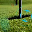 Perfect Putt target-mode - Stock Photo