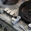 Vintage analog recorder reel to reel — Wideo stockowe #13147557