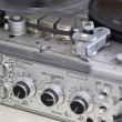 Stock Video: Vintage analog recorder reel to reel