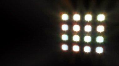 鋼構造骨組の舞台照明 — ストックビデオ