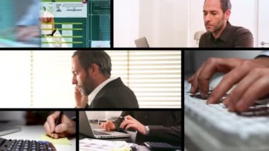 Business Screens — Stock Video