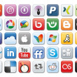 Social media icons — Stock fotografie #13165186
