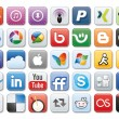 Social media icons - Stock fotografie