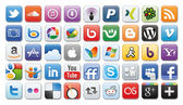 Social media icons — Stock fotografie
