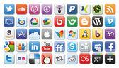 Sociala medier ikoner — Stockfoto