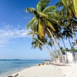 Lonely beach - Caribian summer - Stock Photo