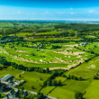 Aerial view of Golf course — Foto Stock