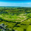 Aerial view of Golf course — Stock fotografie
