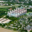 RWTH Aachen Hospital - aerial view - Stock Photo
