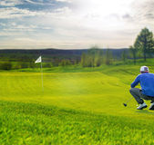 Putting green da golf — Foto Stock