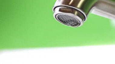 Waterdrop out of leaky Faucet loop — Stock Video