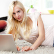 Young woman using Laptop — Stock Photo #6462068