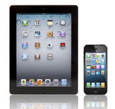 Apple neue ipad 3 und iphone 5 — Stockfoto