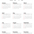 Calendar for 2013 - Stock Vector