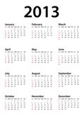 Calendar for 2013 — Vettoriale Stock