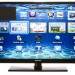 Stock Photo: smart tv with samsung apps and web browser