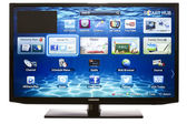 Smart TV with Samsung Apps and Web Browser — Stock Photo