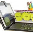Back to school with digital tablet pc — Stock Photo #24576037