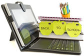 Back to school with digital tablet pc — Stock Photo