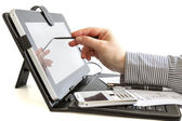 Business woman using digital tablet. — Stock Photo