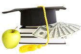 Money and books for school — Stock Photo