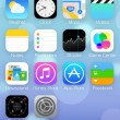 IOS 7 icons & homescreen — Stock Photo