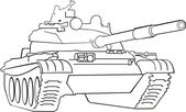 Army tank — Stock Vector