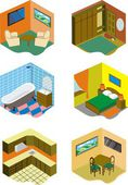 Rooms in the house — Stock Vector