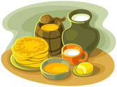 Stillife with pancakes — Wektor stockowy