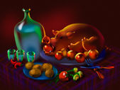 Festive feast — Stock Photo
