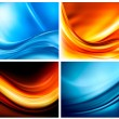 Set of business elegant colorful abstract backgrounds - Stock Vector