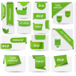 Collection with Eco tags and labels and stickers Vector illustration — Stock Vector #12643587