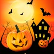 Stock Vector: Halloween background Vector